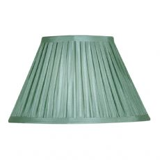 Sage Box Pleat Faux Silk Lined Fabric Lamp Shade S650/12SE- Oaks Lighting